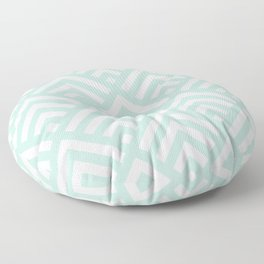 Turquoise Blue geometric art deco diamond pattern Floor Pillow
