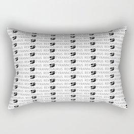 T-Rex Pattern (Black & White) Rectangular Pillow