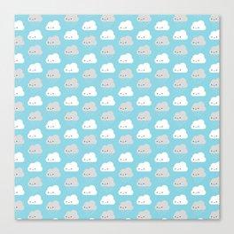 Happy and Sad Kawaii Clouds Canvas Print