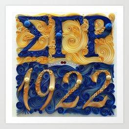 Sigma Gamma Rho 1922 Kunstdrucke