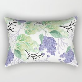 Lilac flowers on a white background. Rectangular Pillow