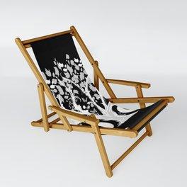 The Zen Tree - White on Black Sling Chair