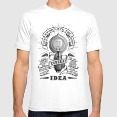 Idea MEDIUM White Mens Fitted Tee