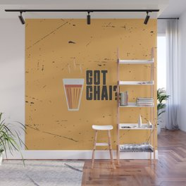 Funny Got Tea Chai Hindi Quote Wall Mural