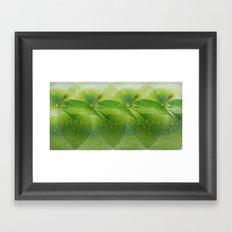 Green apple hallucination Framed Art Print