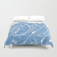 ponyo Duvet Covers featuring The Ocean is Alive by Brandon Ortwein