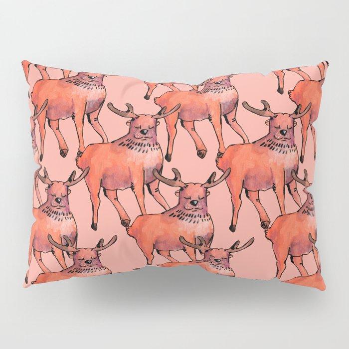 living coral deer Pillow Sham