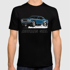 Mustang Girl with tint Mens Fitted Tee X-LARGE Black