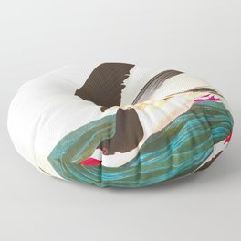 Black Skimmer or Shearwater Bird Floor Pillow
