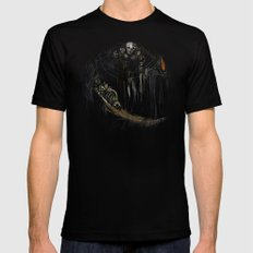 Gravelord Nito - Dark Souls (black tee PNG edition) Black MEDIUM Mens Fitted Tee