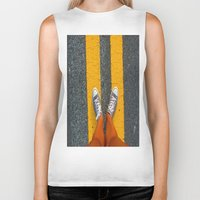 converse Biker Tanks featuring Converse Contrast by jyoshimitsuj