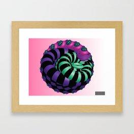 Fractal Cherry Framed Art Print