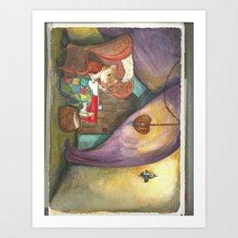 Ginger's Cozy Caravan Art Print