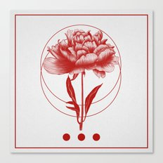 Inked III (Red) Canvas Print