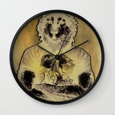 Four Wolf Moon Wall Clock