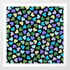 Hearts #3 Art Print