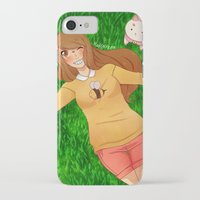 bee and puppycat iPhone & iPod Cases featuring Bee and Puppycat by radcoffee