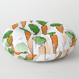 Carrot Popart by NIco Bielow Floor Pillow