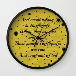Hufflepuff House Pride Wall Clock