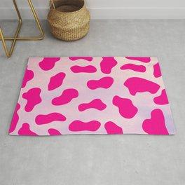 Pink Animal Print Cow Spots Pattern Rug