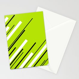 Diagonals - Lime Green Stationery Cards