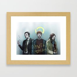 In the Flesh - Not your Messiah Framed Art Print