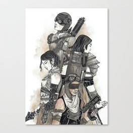 Built as Warriors Canvas Print