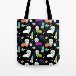 Welsh Corgi outer space cadet space camp rockets astronaut dog breed corgis gifts Tote Bag