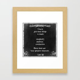 Chalkboard Design with Lao Tzu Inspirational Quote Framed Art Print