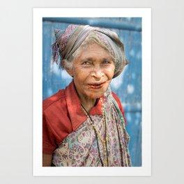 Woman in red. Bajawa, Flores, Indonesia. Art Print