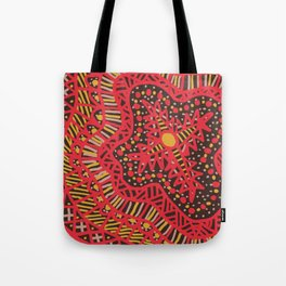 Doodle 16 Red Tote Bag