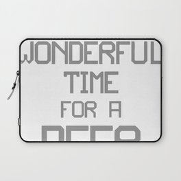 Most Wonderful Time For A Beer Laptop Sleeve