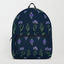 Floral pattern wth blue cornflowers Backpack