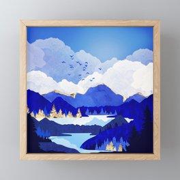 Blue Lake Framed Mini Art Print