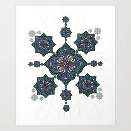 Lively Earth Mandala - v.3 Art Print