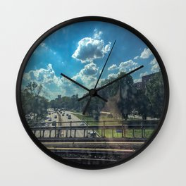 View From A Train Wall Clock