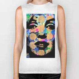 SEX GIRL SUPERSTAR FEMALE WOMAN NOW POP ART PAINTING Biker Tank