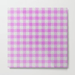Violet Buffalo Plaid Metal Print