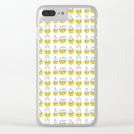Yellow Shapes Clear iPhone Case