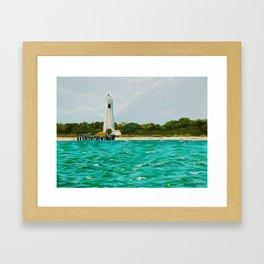 Egmont Key Lighthoues Painting Framed Art Print