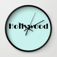 hollywood Wall Clocks featuring Hollywood by SoCal Chic Photography