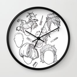 Crazy Hair, Don't Care Wall Clock