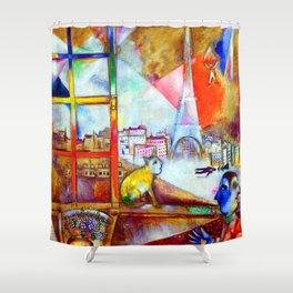 Marc Chagall Paris Through the Window Shower Curtain