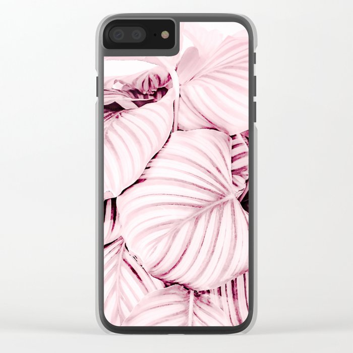 Long embrace - pink Clear iPhone Case