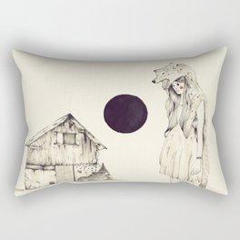 Mujer Loba Rectangular Pillow