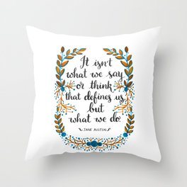What Defines Us (Light) Throw Pillow