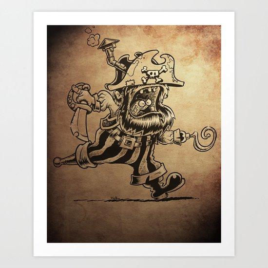 Steam powered Pirate Art Print