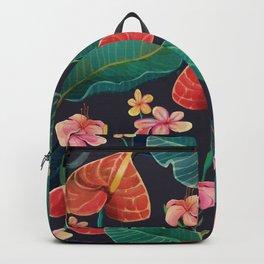 watercolor tropical flowers Backpack