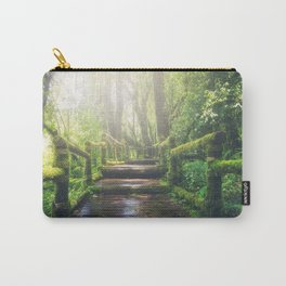 Green Mossy Forest Path Bridge Carry-All Pouch