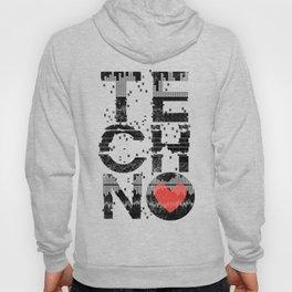 Love Techno Music Hoody